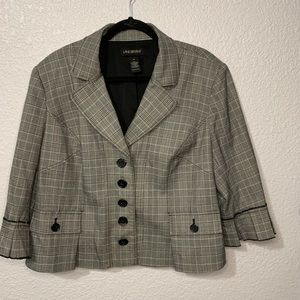 Lane Bryant Pleated Cuff Blazer